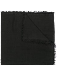 Ann Demeulemeester Fray Trimmed Scarf Black