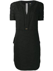 Class Roberto Cavalli Embroidered Floral Dress Black
