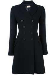 Alaia Vintage Double Breasted Coat Black
