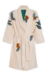 Alena Akhmadullina Milken Belted Fur Robe Neutral