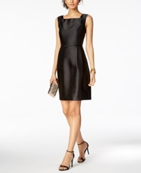 Ellen Tracy Petite Square Neck Sheath Dress Black