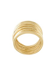 Wouters And Hendrix My Favourite Coiled Ring Gold Plated Sterling Silver Metallic