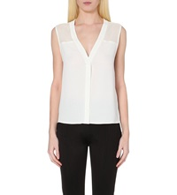 Sandro Sleeveless Woven Top Ecru