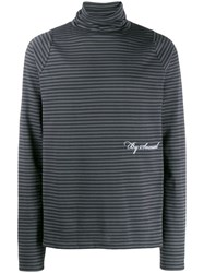 Martine Rose Striped Turtle Neck Sweater Grey