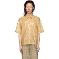 Cmmn Swdn Beige Coated Cotton Damien Shirt