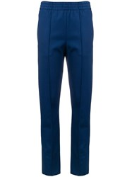 Joseph Tailored Track Style Trousers Blue