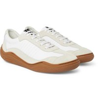 Lanvin Suede And Canvas Sneakers White