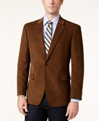 Tommy Hilfiger Men's Slim Fit Corduroy Elbow Patch Sport Coat Brown