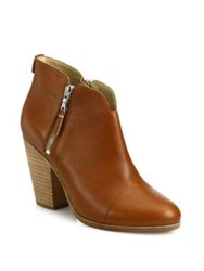 Rag And Bone Margot Leather Zip Booties Tan