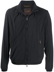 Moorer Zipped Bomber Jacket Black