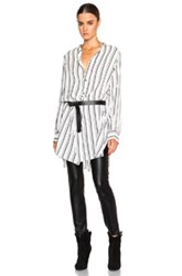 Isabel Marant Utah Striped Shirt In Black White Stripes