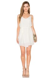 Eight Sixty Tied Waist Tank Dress White