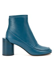 Maison Martin Margiela Dislodged Heel Ankle Boots Blue