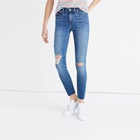 Madewell 9 High Rise Skinny Crop Jeans In Bruce Wash
