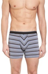 Nordstrom Men's Shop Striped Pouch Briefs Grey Blue Variegated Stripe