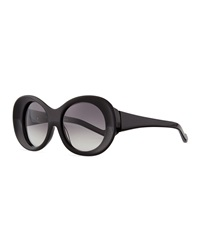 Courreges Thick Oval Sunglasses Black