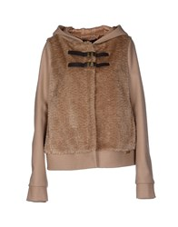 Twin Set Simona Barbieri Coats And Jackets Jackets Women Khaki