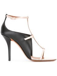 Givenchy Monochrome Cage Sandals Black