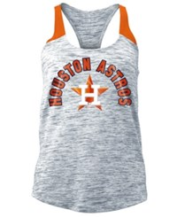 5Th And Ocean Women's Houston Astros Space Dye Tank Navy Orange
