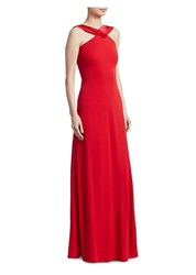 Emporio Armani Jersey Gown Red