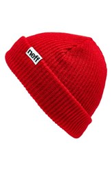 Men's Neff 'Fold' Beanie Red