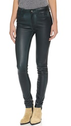 Mih Jeans Ellsworth Leather Pants Amazing Green