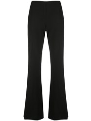 The Row Long Flared Trousers Black