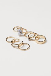 Handm H M 8 Pack Rings Gold