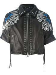 Diesel Black Gold Lace Up Eyelits Detailing Jacket