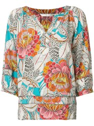 Trina Turk Light Hearted Top Women Silk S White