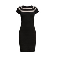 Rumour London Catherine Bodycon Dress With Cut Out Black