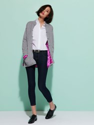 Shanghai Tang Cashmere Cardigan With Silk Lining Heather Grey
