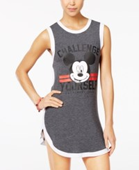 Disney Juniors' Mickey Mouse Challenge Yourself Dress Heather Charcoal White