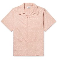 Chimala Camp Collar Printed Woven Shirt Pink