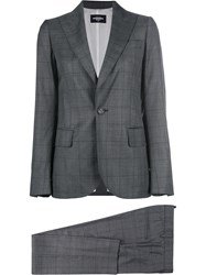 Dsquared2 Tailored Fitted Suit Virgin Wool Polyester Grey