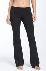 Women's Hard Tail Roll Waist Bootleg Flare Pants Black