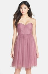 Women's Jenny Yoo 'Wren' Convertible Tulle Fit And Flare Dress Cherry Blossom