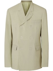 Burberry Slim Fit Press Stud Wool Tailored Jacket Neutrals