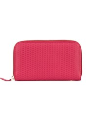 Zanellato Classic Continental Wallet Pink And Purple