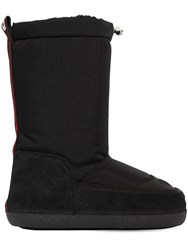 Dsquared 20Mm Nylon And Suede Snow Boots Black