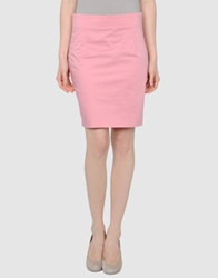 Mauro Grifoni Knee Length Skirts Pastel Pink