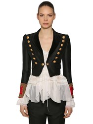 Dsquared Wool And Silk Bolero Jacket Black