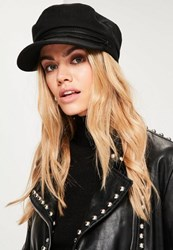 Missguided Black Nautical Hat