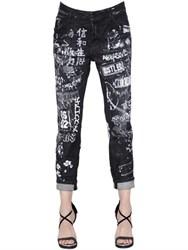 Dsquared Cool Girl Printed Destroyed Denim Jeans