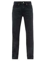Raey Push Straight Leg Jeans Black