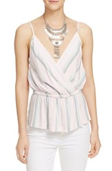 Women's Free People 'Psychedelic Summer' Stripe Surplice Tank Ivory