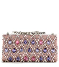 Jimmy Choo Celeste Crystal Embellished Clutch Pink