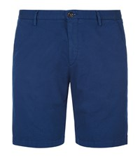 Boss Rice Gabardine Slim Fit Shorts Male Blue