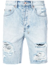 Ksubi Axel Denim Shorts Blue
