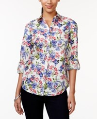 Charter Club Floral Print Button Down Shirt Only At Macy's